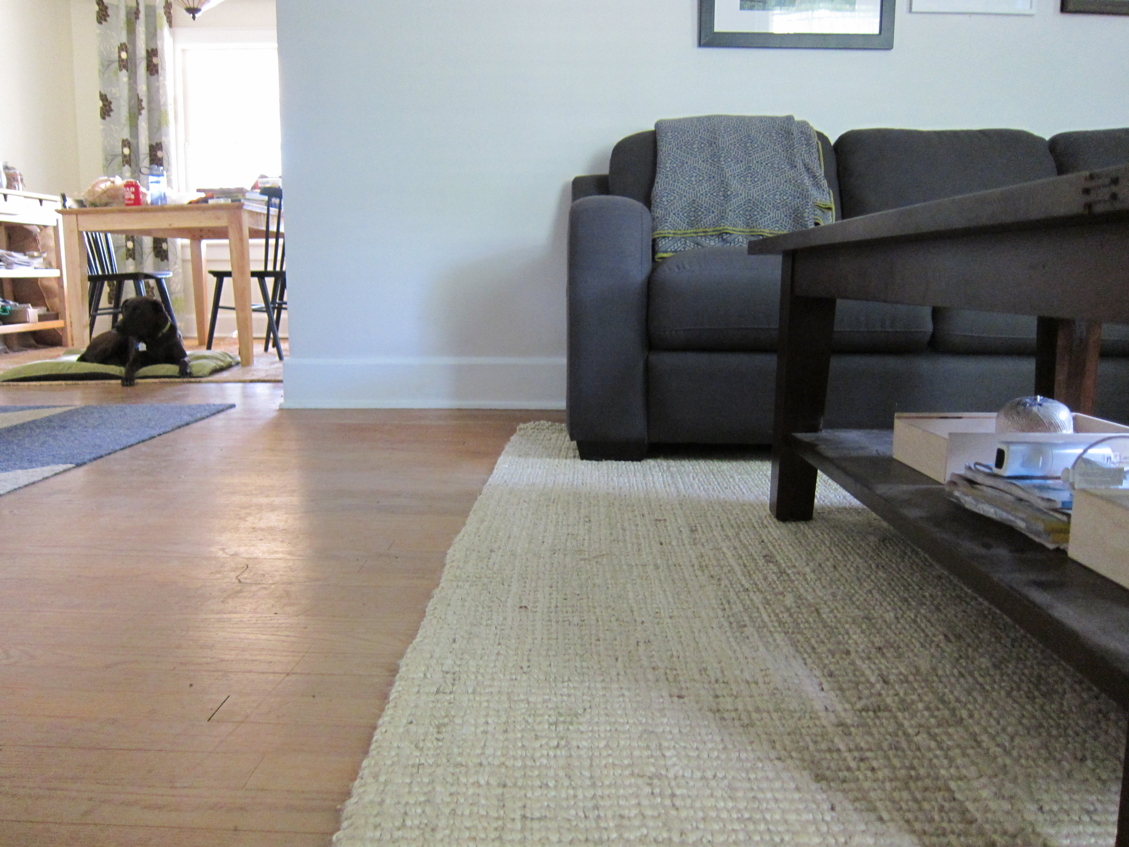 I Like The Clean Lines Of The Sofa, Mirror, And Tables, But The Soft Rug  Texture Makes It More Balanced Somehow.