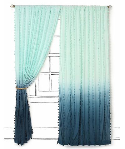 Green Curtains blue and green curtains : DIY Ombré Curtain Panels | escape from bk