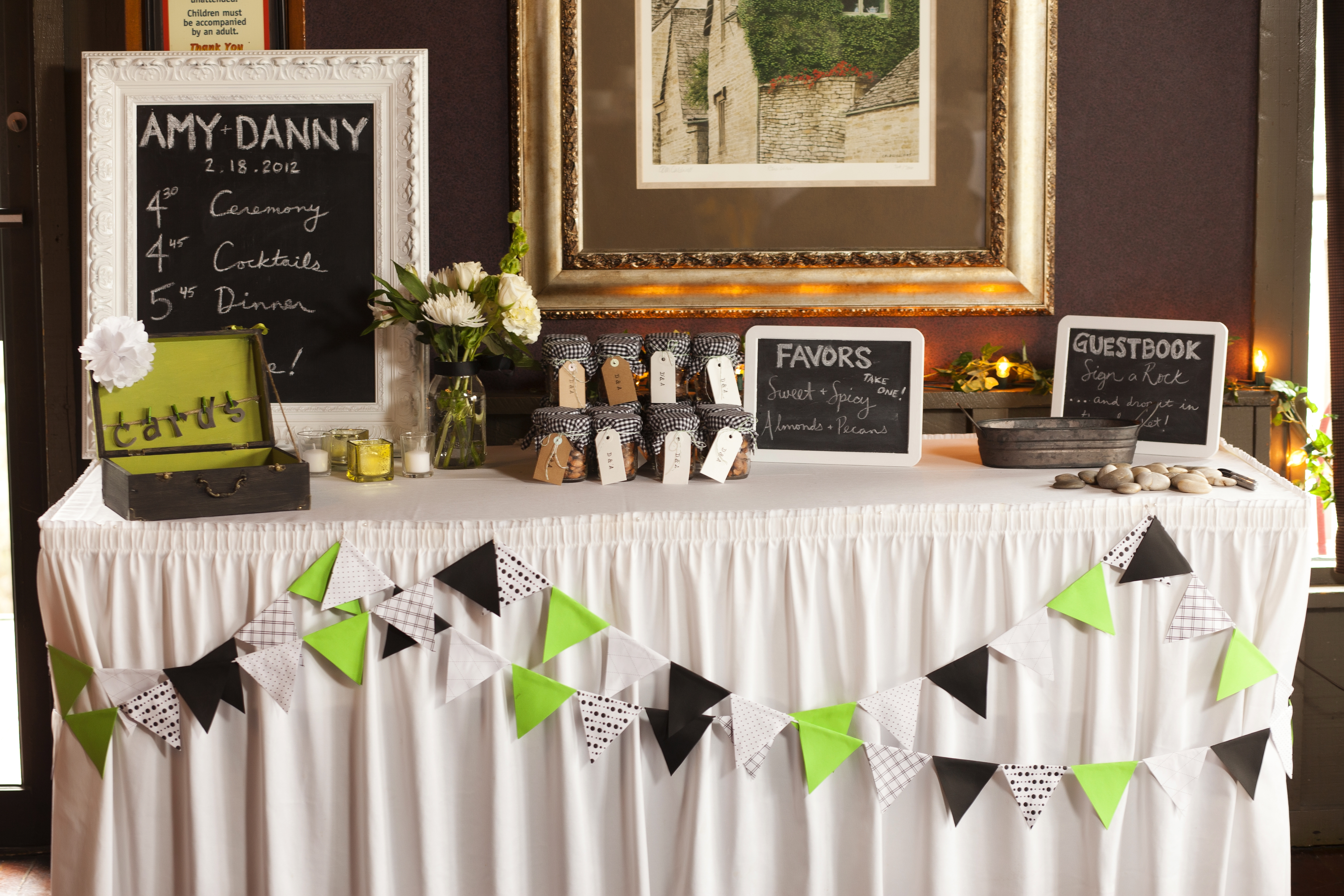 Inspirational Guest Book Table | Wedding
