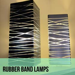 Rubber Band Lamps