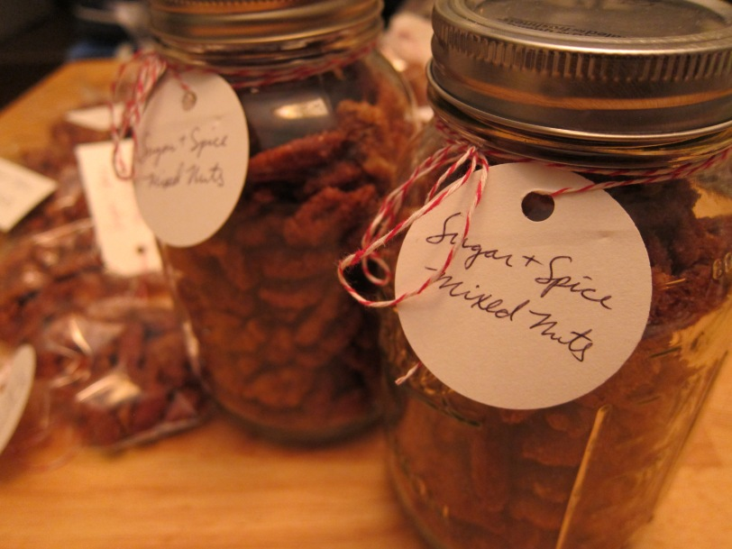 sugar and spice nut jars