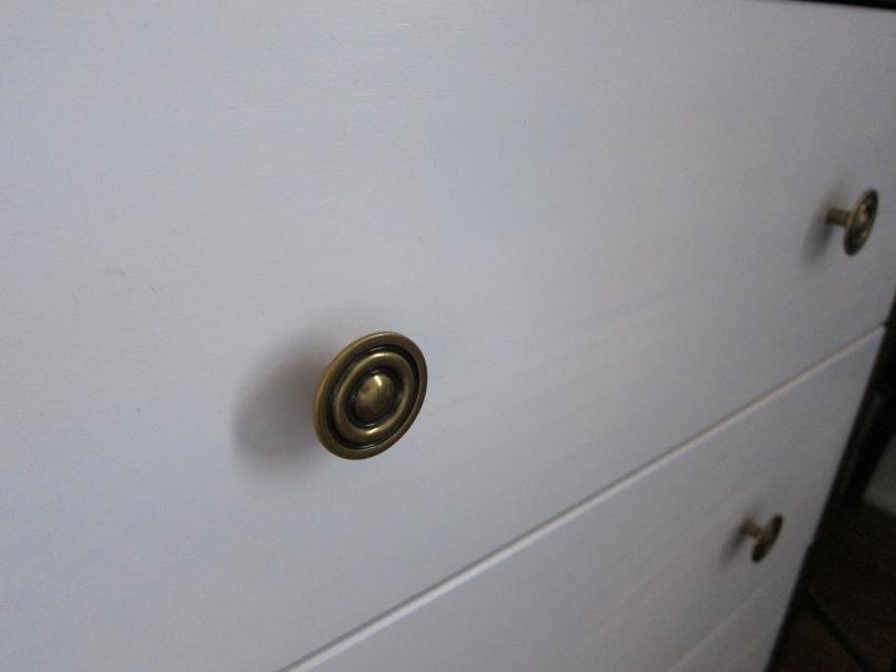 brass knobs on IKEA RAST