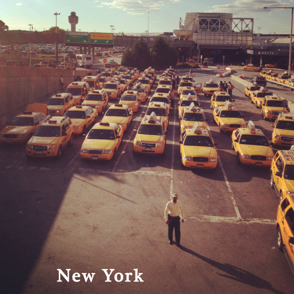taxis at LaGuardia