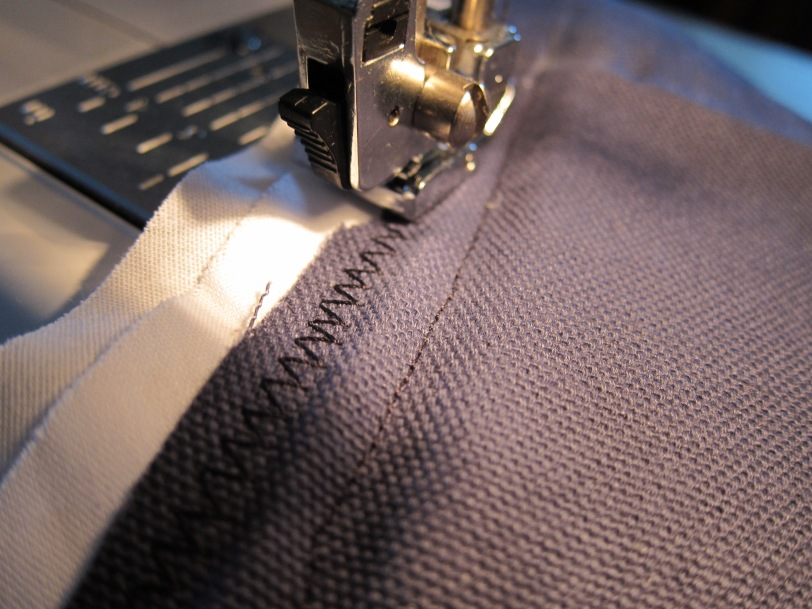 zig zag stitch around the edges